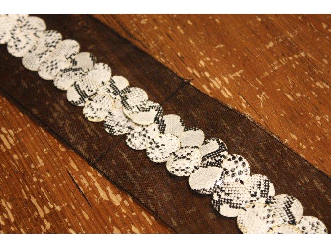 Koženková bordura na tylu, design Roberto Cavalli