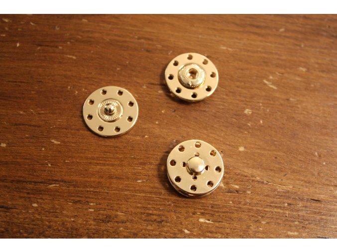 Kulaté zlaté patenty, 20mm