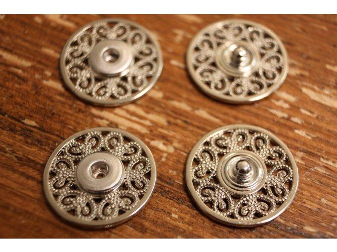 """Stříbrné patenty """"filigrán"""", 15,3mm"""
