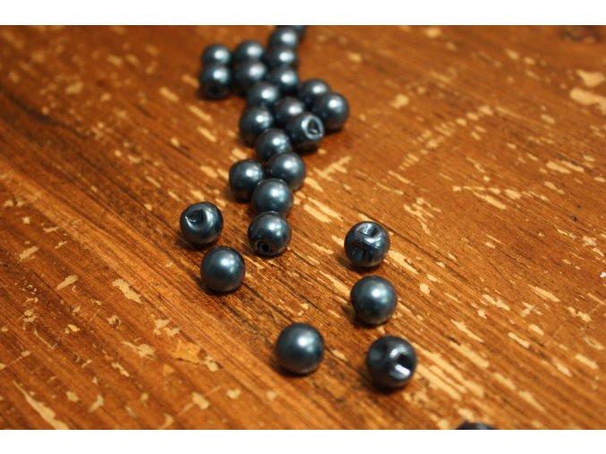 Tmavě modrý knoflík perlička, 10mm