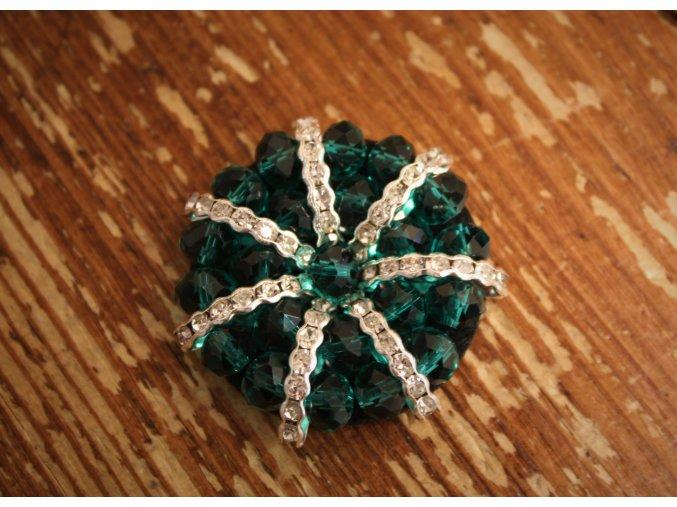 Zelená aplikace z korálků