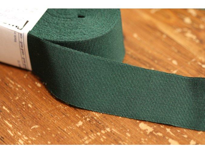 Tmavší zelená rypsová stuha, 40mm