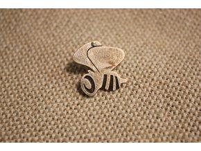 Miniaturní brož ve tvaru včelky