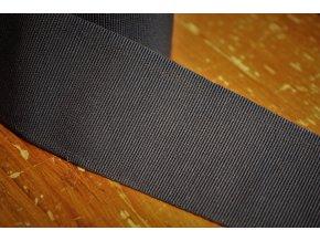 Tmavě modrá rypsová stuha, 50 mm