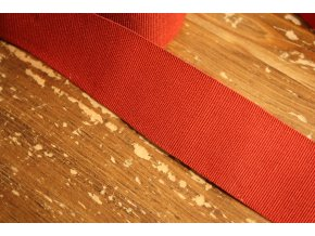 Červená rypsová stuha, 40 mm