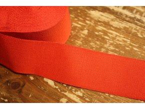 Výrazně červená rypsová stuha, 40 mm