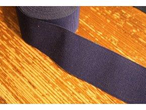 Rypsová stuha v modro-fialové barvě, 40 mm