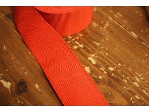 Výrazně červená rypsová stuha, 30mm