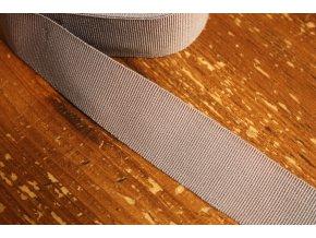 Šedo-fialová rypsová stuha, 30mm