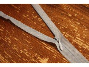 Skrytý zip v světle šedé barvě, 20cm 40cm, 60cm