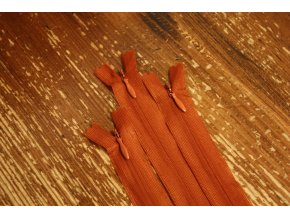 Skrytý zip v rezavé barvě, 20cm  35cm, 55cm