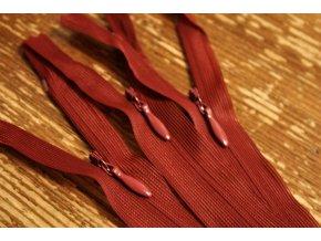 Bordó skrytý zip , 20cm  40cm, 60cm