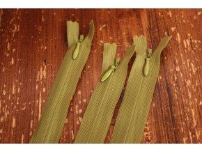 Skrytý zip v pistáciové barvě, 20cm  35cm, 55cm