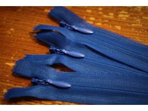 Skrytý zip v královské modré barvě, 20cm  35cm, 55cm