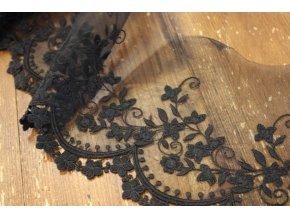 Černá týlová krajka, 10,5cm