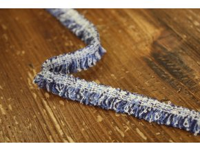 Modro-bíly prýmek s třepením, 13mm