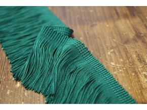 Tmavě zelené třásně, 7 cm