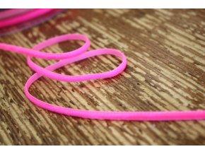 Neonově růžová sametová stuha, 3mm
