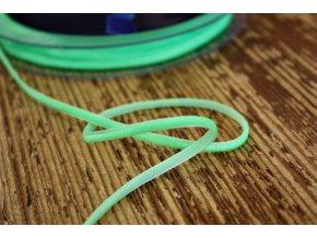 Neonově zelená sametová stuha, 3mm