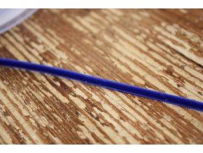 Modrá sametová stuha, 3mm
