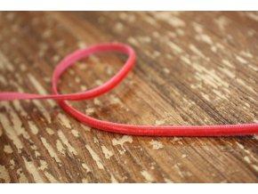 Světlejší červená sametová stuha, 3mm