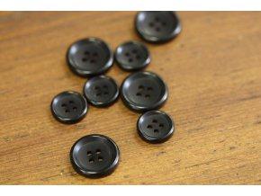Černý knoflík, 2 velikosti
