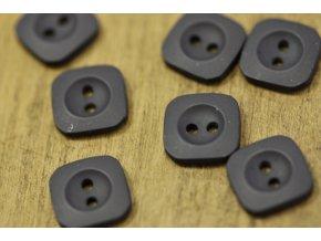 Tmavě modrý knoflík, čtverec matný povrch, 13mm