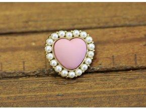 Růžový matný knoflík, design Blumarine