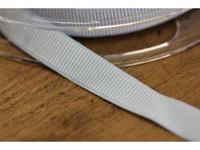 Jemná rypsová guma v světle modré barvě, 15mm