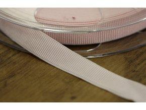 Jemná rypsová guma v světle růžové barvě, 15mm