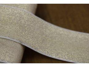 Zlatá guma s lurexem, 40mm