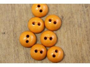 Košilový knoflík- půlkulička v oranžovém odstínu
