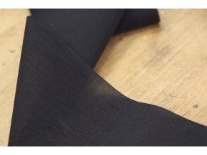 Černá průsvitná široká guma, 10cm