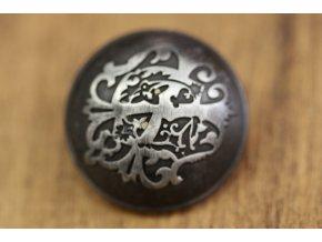 Starostříbrný knoflík s ornamentem