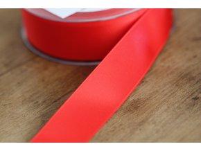 Červená saténová stuha,  25 mm
