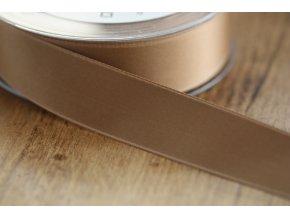 Béžová saténová stuha,  25 mm