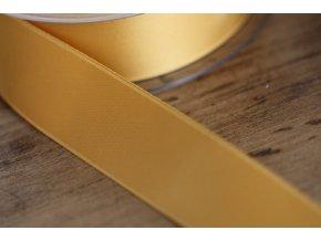 Zlatá saténová stuha, 25 mm