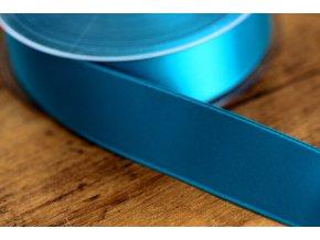 Safírově modrá saténová stuha, 25 mm