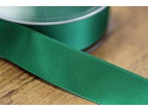 Zelená saténová stuha,  25 mm