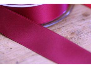 Vínově červená saténová stuha,  25 mm