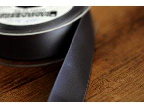 Tmavě šedá saténová stuha,  25 mm