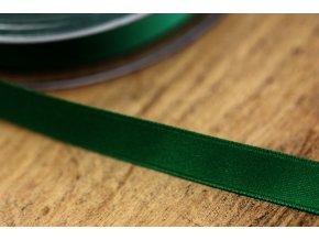 Zelená saténová stuha, 10 mm