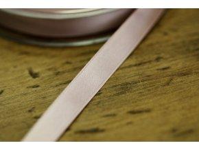Světle růžová saténová stuha, 10 mm