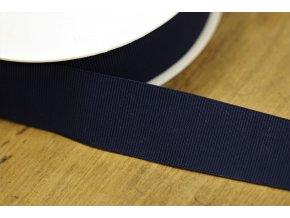 Tmavě modrá rypsová guma, 35 mm