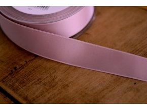 Světle růžová saténová stuha,  25 mm