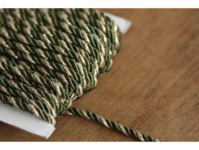 Khaki kroucený provaz, 4mm