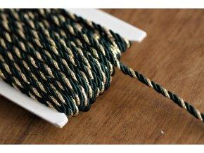 Tmavě zelený kroucený provaz, 4mm