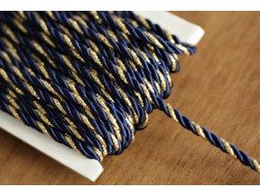 Modro-zlatý kroucený provaz, 4mm