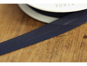 Tmavě modrý šifonový šikmý proužek