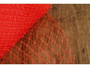 Francouzský závoj v červené barvě